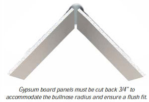 Paper-Faced Bullnose Tape-on (P1BO) | ClarkDietrich Building