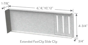 EXTENDED FastClip™ (FCEC) 14ga | ClarkDietrich Building Systems